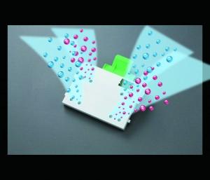プラズマクラスターイオン発生ユニットイメージ図